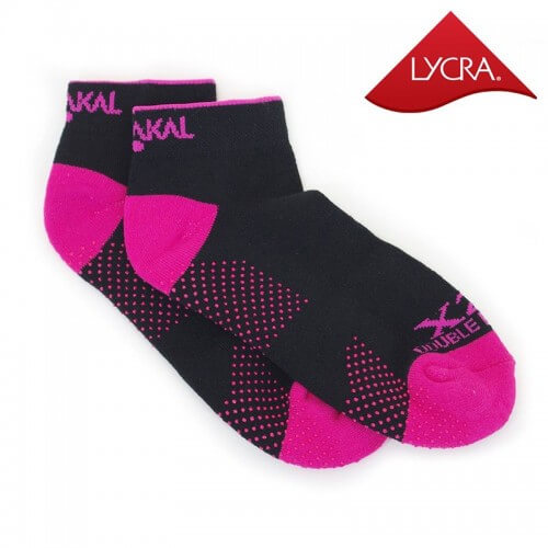 Karakal Socks X2 Trainer Invisible Black Pink