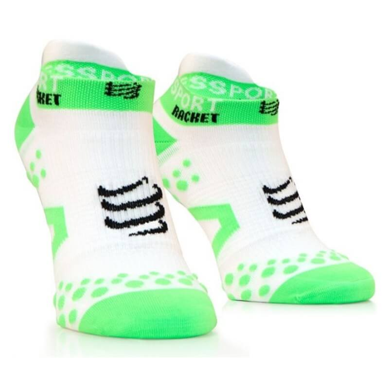 Compressport Strapping Socks Low Cut White Green