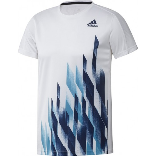 Adidas Graphic 1 Tee Men White Blue