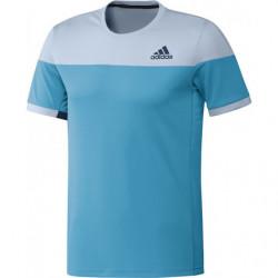 Adidas Colorblock Tee Men Bleu Cyan