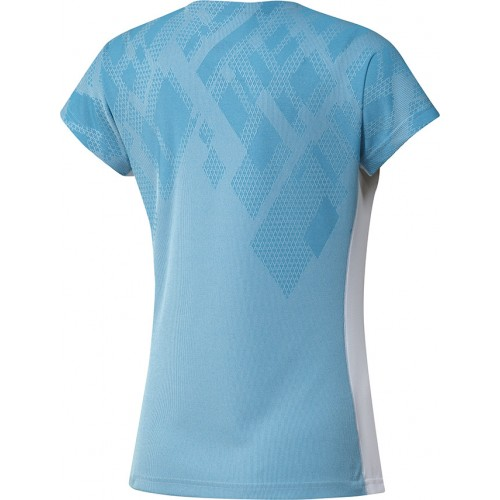 Adidas Colorblock Pro Tee Women Sky Blue