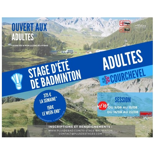 Stage adultes Courchevel été 2021